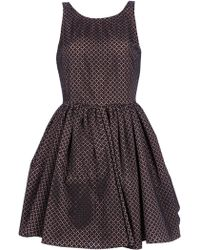Alaïa Printed Skater Dress - Lyst