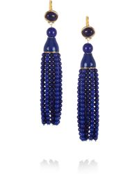 Kenneth Jay Lane Tassled Resin Earrings - Lyst