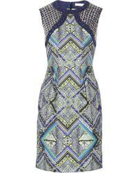 Matthew Williamson Embellished Printed Linen Dress - Lyst