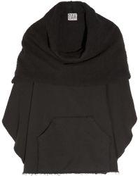 OAK - Cotton-Fleece Poncho - Lyst