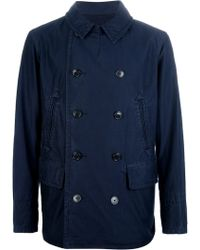 Ralph Lauren Blue Label Doublebreasted Peacoat - Lyst