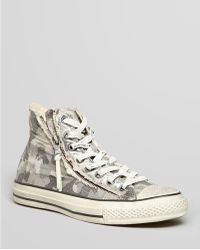 Converse All Stars Double Zip Painted Camo High Tops - Lyst