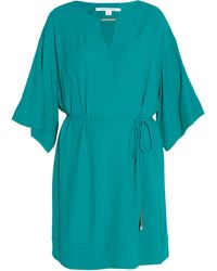 Diane Von Furstenberg Tina Wide Sleeve Tie Dress - Lyst