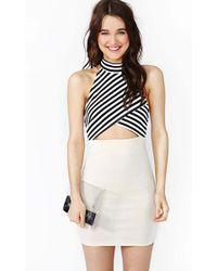 Nasty Gal Strapped Stripe Dress - Lyst