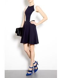 Tara Jarmon Milano Jersey Sleeveless Dress with Panels - Lyst