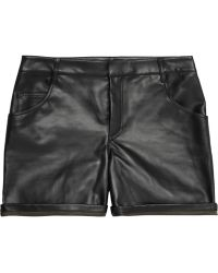 Theyskens' Theory | Porty Faux Leather Shorts | Lyst