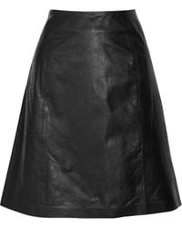 Theyskens' Theory Skolla Leather Skirt - Lyst