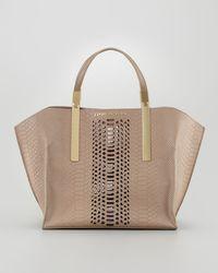Z Spoke by Zac Posen - Danes Dry Pythonprint Small Shopper Bag - Lyst