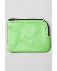 Cheap Monday - The Zip Leather Wallet in Green Grey - Lyst