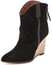 IRO - Merrick Wedge Booties - Lyst