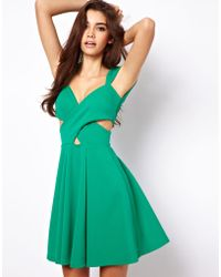 ASOS Collection |  Skater Dress with Cut Out Sides | Lyst