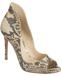 Gianvito Rossi Python High Back Pump - Lyst