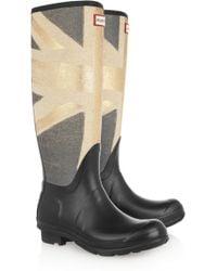 Hunter Original Tall Union Jackprint Wellington Boots gray - Lyst