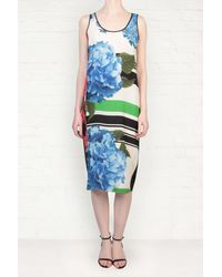 Preen By Thornton Bregazzi Mason Poppy Print Sleeveless Silk Dress - Lyst