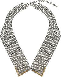 Topshop Chain Spike Peter Pan Collar - Lyst