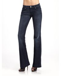 7 For All Mankind Dojo Crystalpocket Bootcut Jeans - Lyst