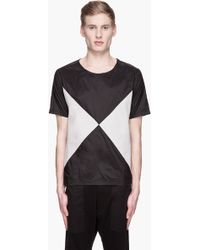 Originals x Opening Ceremony Black and Grey Color Blocked X T-shirt - Lyst