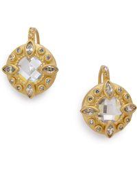 Belargo - Round Starburst Earrings - Lyst