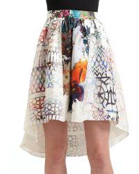 Cynthia Rowley | Silk Twill Hilo Skirt | Lyst