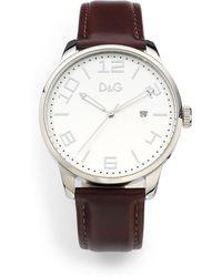 Dolce & Gabbana - Stainless Steel Datefunction Watchbrown - Lyst