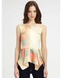 Elizabeth And James Yumi Silk Top - Lyst