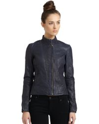 Improvd | Seamed Leather Jacket | Lyst