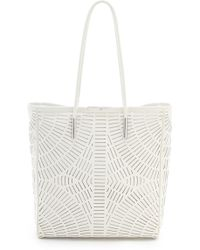 McQ by Alexander McQueen Slash Leather Shopper Tote - Lyst