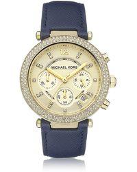 Michael Kors Parker Chronograph Watch - Lyst