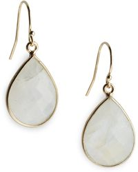 Nunu - Faceted Moonstone Drop Earrings - Lyst