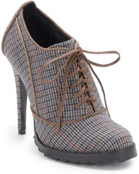 Plomo - Joanna Laceup Tweed Ankle Boots - Lyst