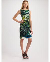 Roberto Cavalli Printed Sleeveless Dress - Lyst