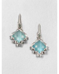 Stephen Webster Blue Catseye Doublet Sterling Silver Drop Earrings - Lyst