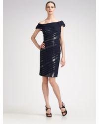 Tadashi Shoji Offtheshoulder Sequined Shutter Dress - Lyst