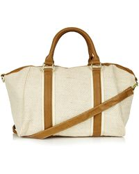 Topshop Canvas Holdall - Lyst