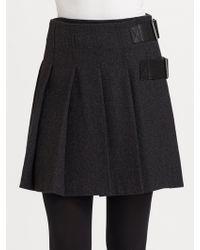 Burberry Brit - Pleated Wool Skirt - Lyst