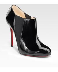 Christian Louboutin Patent Leather Ankle Boots - Lyst