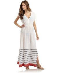 French Connection Sun Stripe Maxi Dress - Lyst