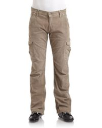 Gray Saks Fifth Avenue Corduroy Cargo Pants - Lyst