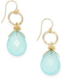 Nunu - Circle Teardrop Earringsaqua - Lyst