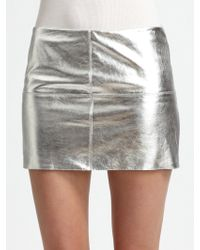 Bailey 44 Turtle Metallic Leather Mini Skirt - Lyst