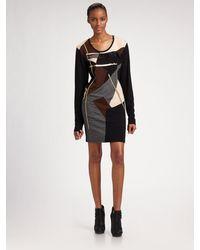 DKNY Stretch Wool Dress - Lyst