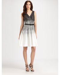 Kay Unger Belted Dress - Lyst
