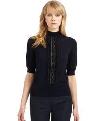 Philosophy di Alberta Ferretti - Embellished Wool Sweater - Lyst