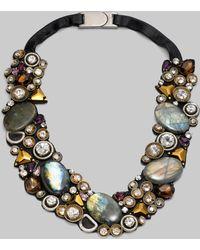 Ranjana Khan Labradorite Amethyst Crystal Necklace - Lyst