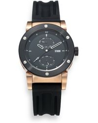 Storm - Hydron Stainless Steel Rubber Watchrosegold - Lyst