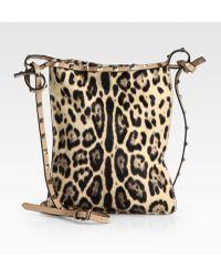 Valentino Rockstud Leopard Hair Calf Crossbody Bag - Lyst