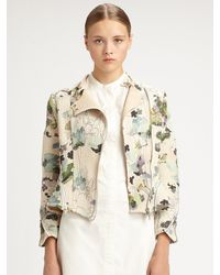 3.1 Phillip Lim Corded Floral Motorcycle Jacket - Lyst
