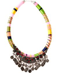 Asos Habenera Coin Collar Necklace - Lyst