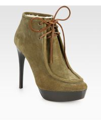Burberry Prorsum - Ramsdale Suede Laceup Ankle Boots - Lyst