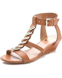 Dolce Vita Helia Low Wedge Sandals - Lyst